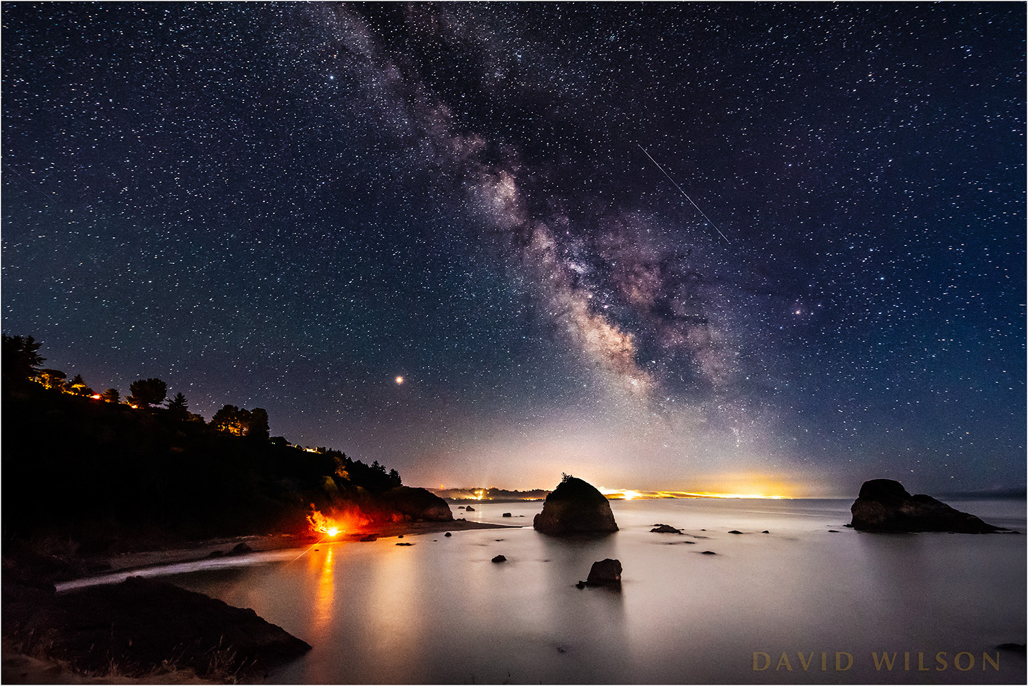 Milky Way over Pacific from Tepona Point