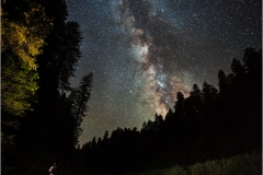 Stargazer on the South Fork Eel River beneath the Milky Way