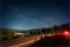Star Trails over the Eel River Valley