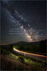 US101 beneath annotated night sky