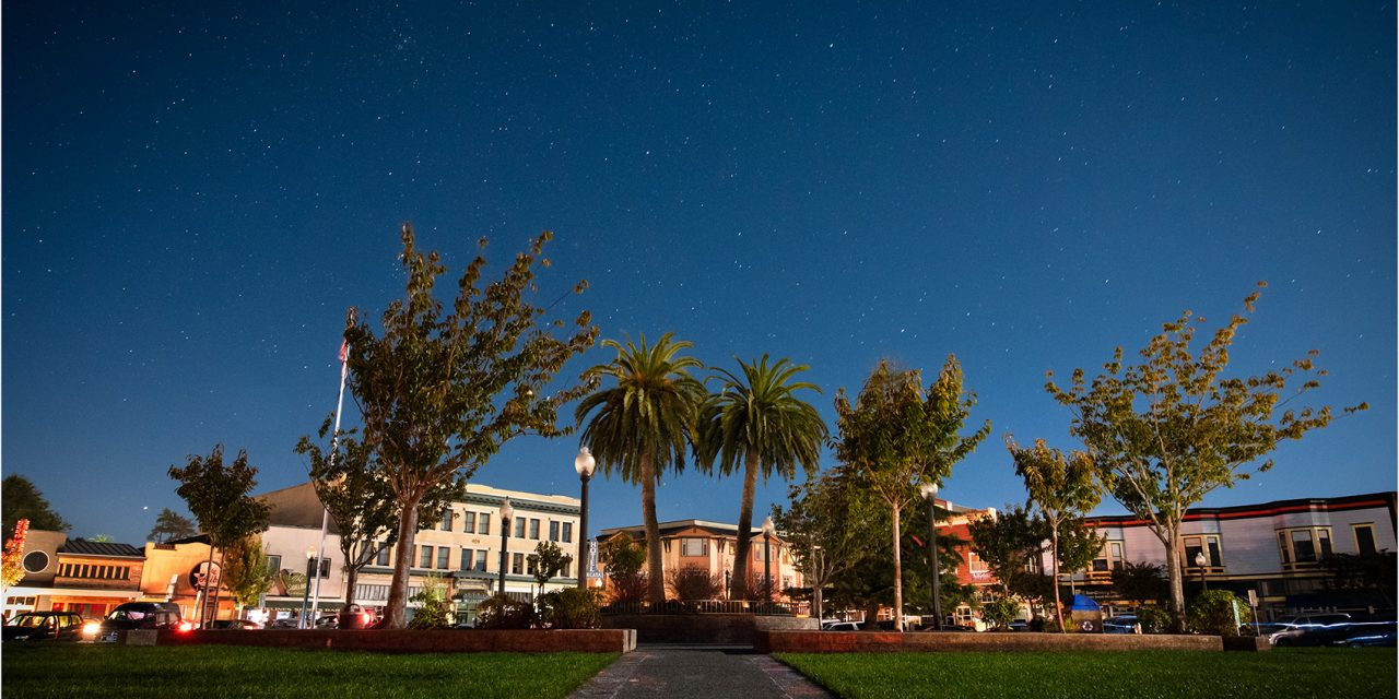 Arcata Plaza in Moonlight