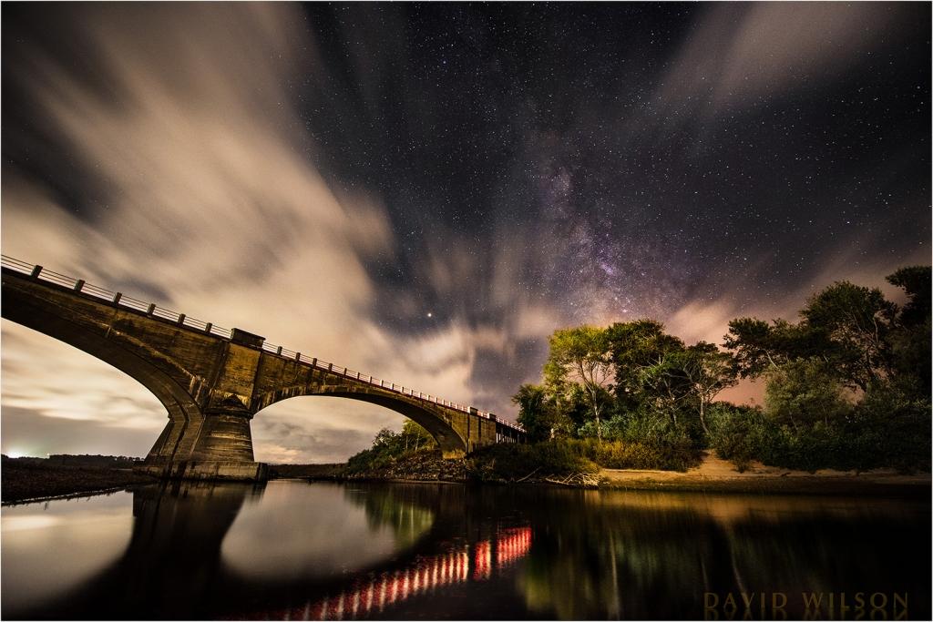 Historic Fernbridge beneath Milky Way