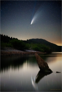 Comet NEOWISE above the Eel River, California