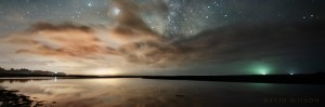 Main image crop: stars and clouds reflected in water
