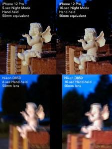 iPhone 12 Pro Night mode vs Nikon D850 hand-held