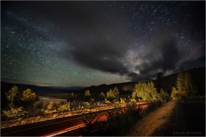 Milky Way over US 101 and the Eel River valley