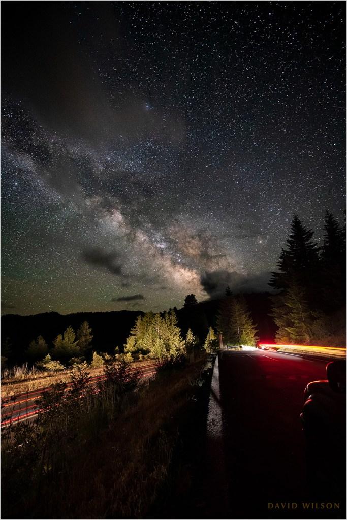 Milky Way over US 101 in Humboldt County, CA