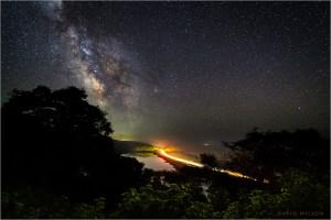 Night scene overlooking Freshwater Lagoon